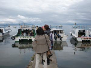 Leaving for Island of the Sun on Lake Titicaca